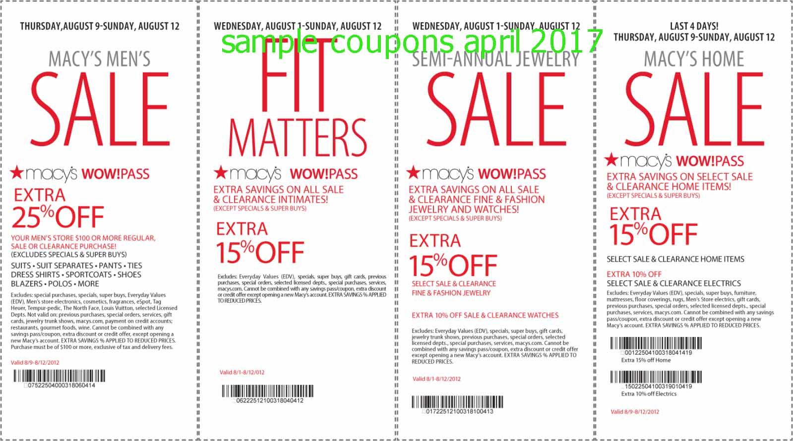 Macys printable coupons for perfume