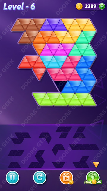 Block! Triangle Puzzle 12 Mania Level 6 Solution, Cheats, Walkthrough for Android, iPhone, iPad and iPod