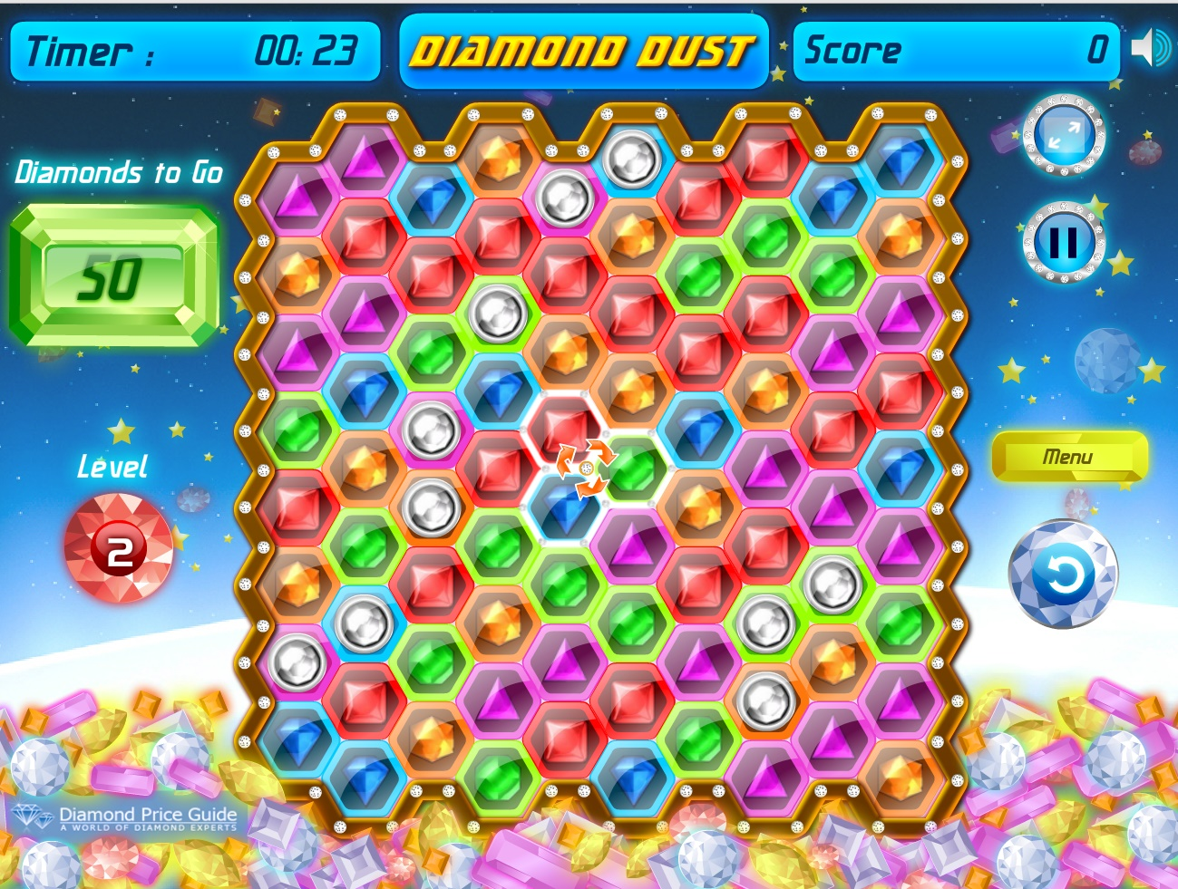 Diamond Dust Play Free Online Fun Game