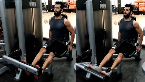Ejercicio para trabajar los músculos de las pantorrillas en máquina sentado