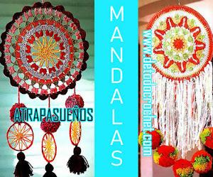 4 Mandalas Atrapasueños / Patrones y Paso a paso