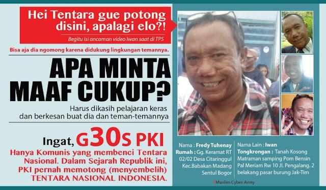 Dituding Intimidasi Pendukung Ahok, 2 Warga Cipinang Muara Diciduk Polisi; Iwan Bopeng Bebas Gentayangan