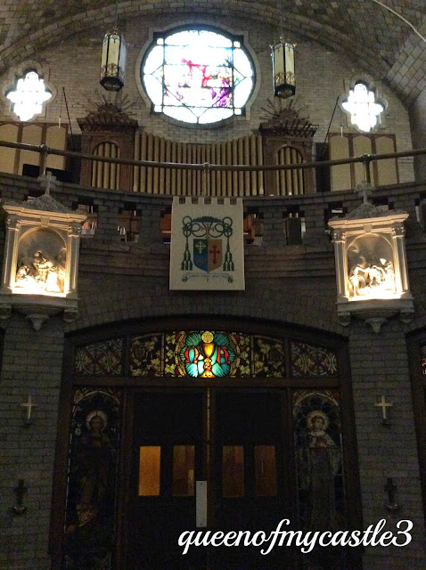 Choir loft at Basilica in Asheville