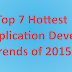 Top 7 Hottest Mobile Application Development Trends of 2015