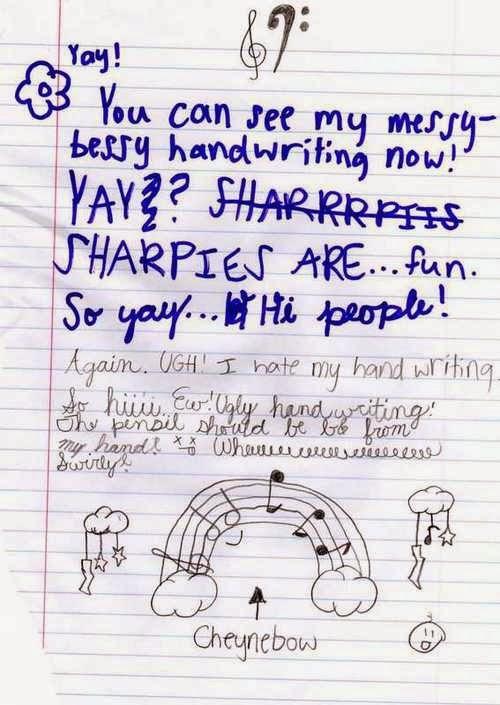 messy handwriting