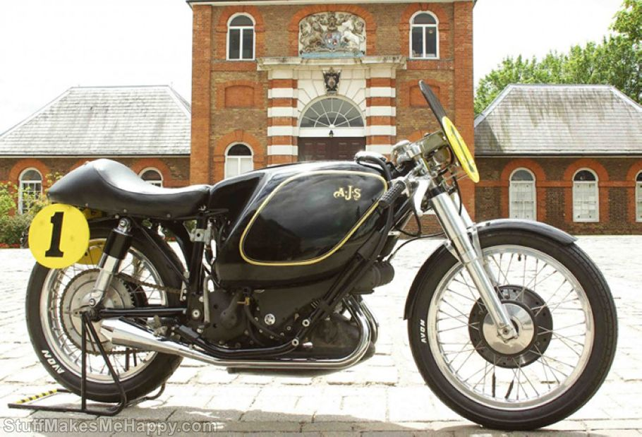 2. 1949 E90 AJS Porcupine Motorcycle - Cost is 7 million USD