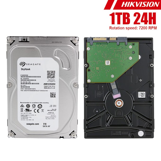 "HDD 3.5"" 24H Seagate Hikvision 1TB"