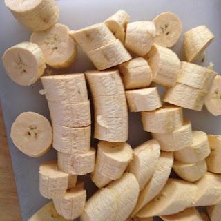 Tostones de plátano verde frito, preparación 2