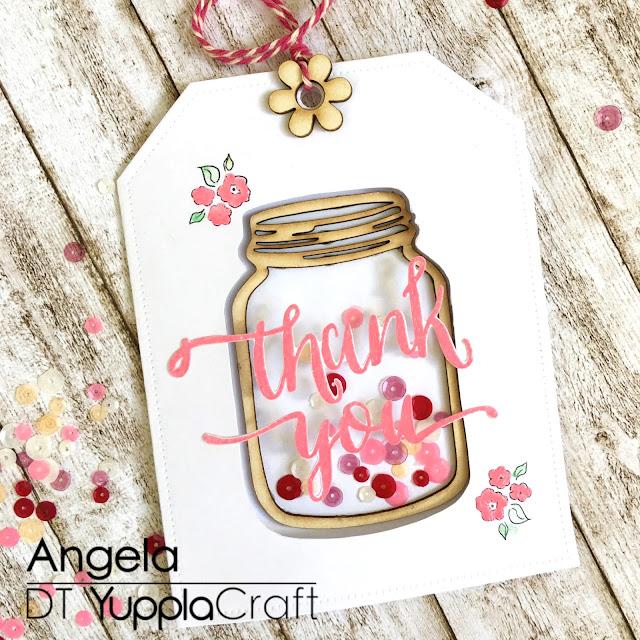 Finta Shaker Card by Angela Tombari for Yuppla Craft
