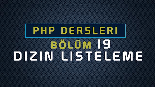 php dizin listeleme