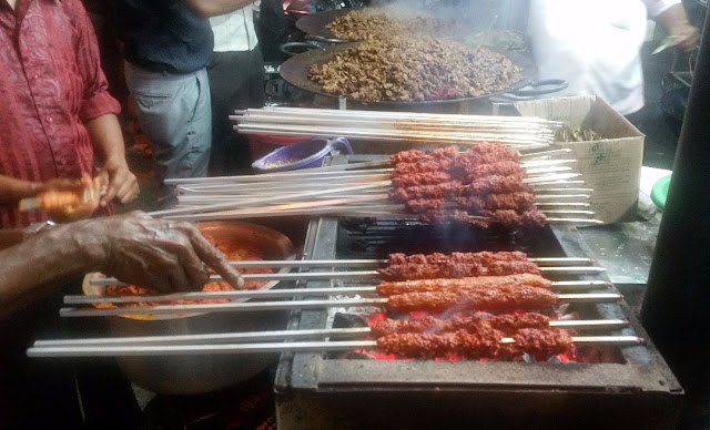 Beef Kabab preparation |