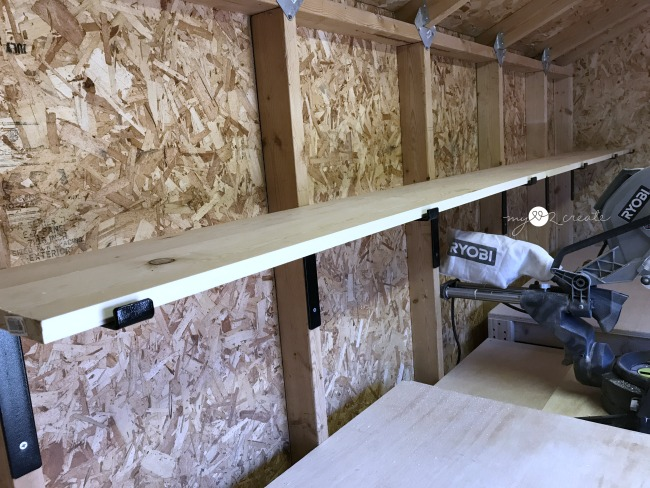 easy and fast storage shelves using shelf brackets