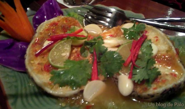 Restaurante en Bangkok Baan Khanitha Thai Cuisine  percado
