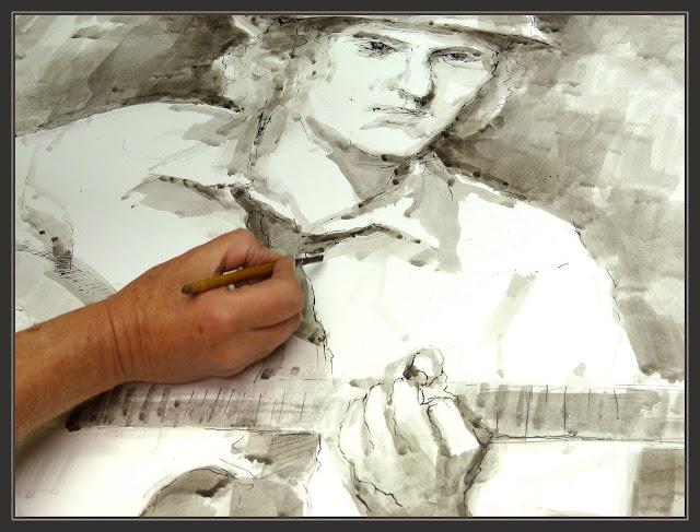 DIBUIXAR-DIBUIXOS-GUITARRISTA-DIBUIX-ART-PINTURA-FOTOS-ARTISTA-PINTOR-ERNEST DESCALS-