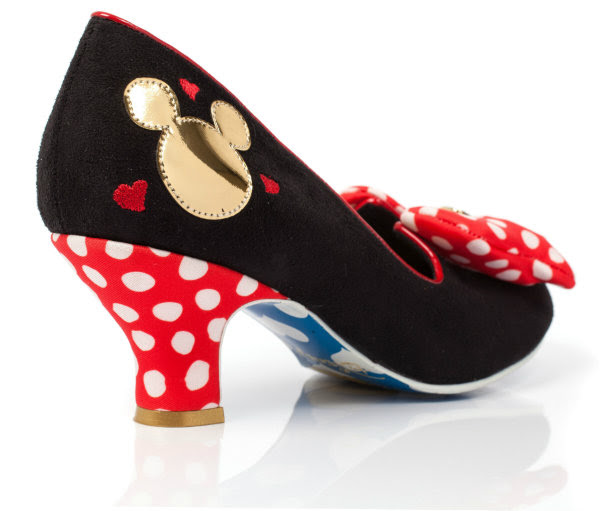 irregular choice disney classic minnie mid heel court