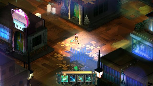 Imagem do Jogo mostrando parte do cenário com a personagem no centro.