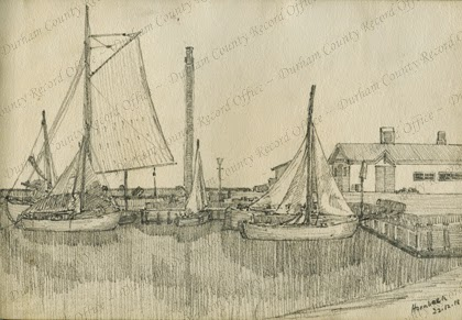 Hornbaek [Denmark], drawn by Captain H. Wilkinson, 22 December 1918 (D/DLI 7/773/2(19))