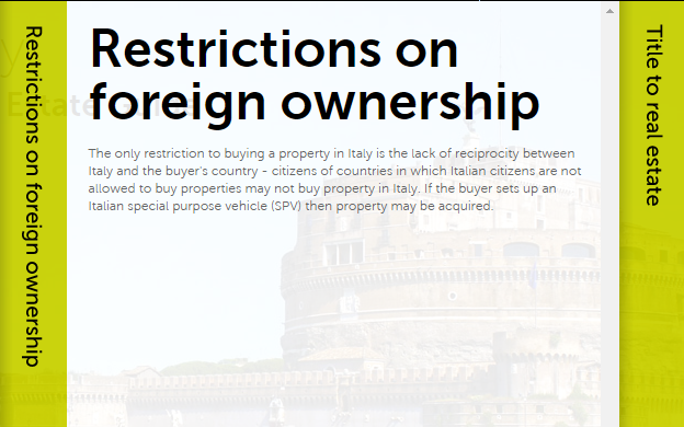 Spot-On Legal Research: Foreign Real Estate