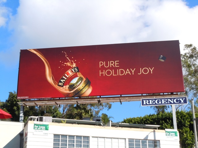 Baileys Pure Holiday Joy billboard