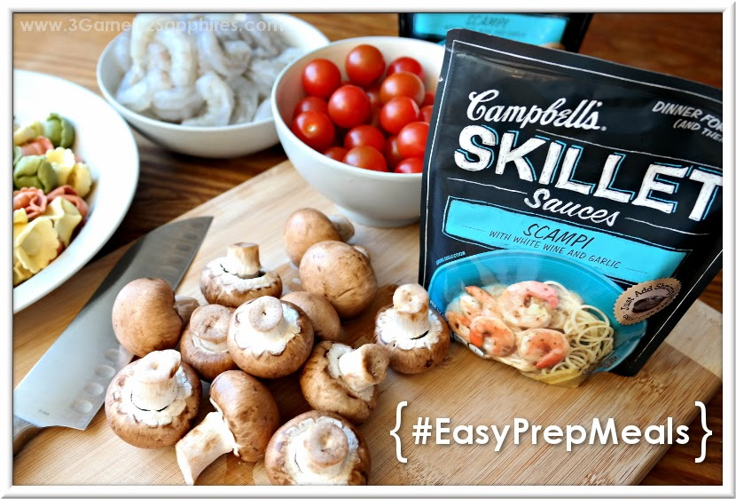 Easy make-ahead shrimp dinner with the help of Campbell's Skillet Sauces #EasyPrepMeals #shop #cbias