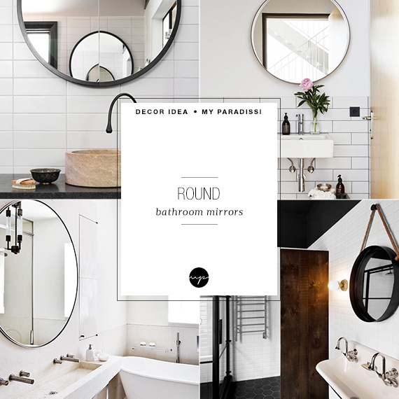 DECOR TREND: Round bathroom mirror