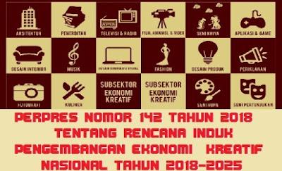 Tentang Rencana Induk Pengembangan Ekonomi Kreatif Nasional  PERPRES NOMOR 142 TAHUN 2018 TENTANG RINDEKRAF NASIONAL TAHUN 2018-2025