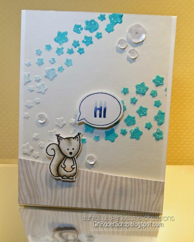 A Squirrelly Hi | Featuring Create A Smile Stamps | created by Danielle Pandeline