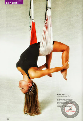 Yoga Aerien France dans les airs Aerial Yoga US: The Benefits for Health in AeroYoga® Poses: Vaihayasa Chakrasana