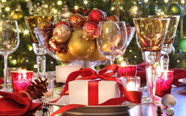deco de table Noel boite a cadeau