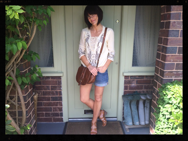 la Redoute Long Sleeved Dress With Embroidery and Studs My Midlife Fashion, Clarks, Saddle Bag, Denim Shorts, H and M