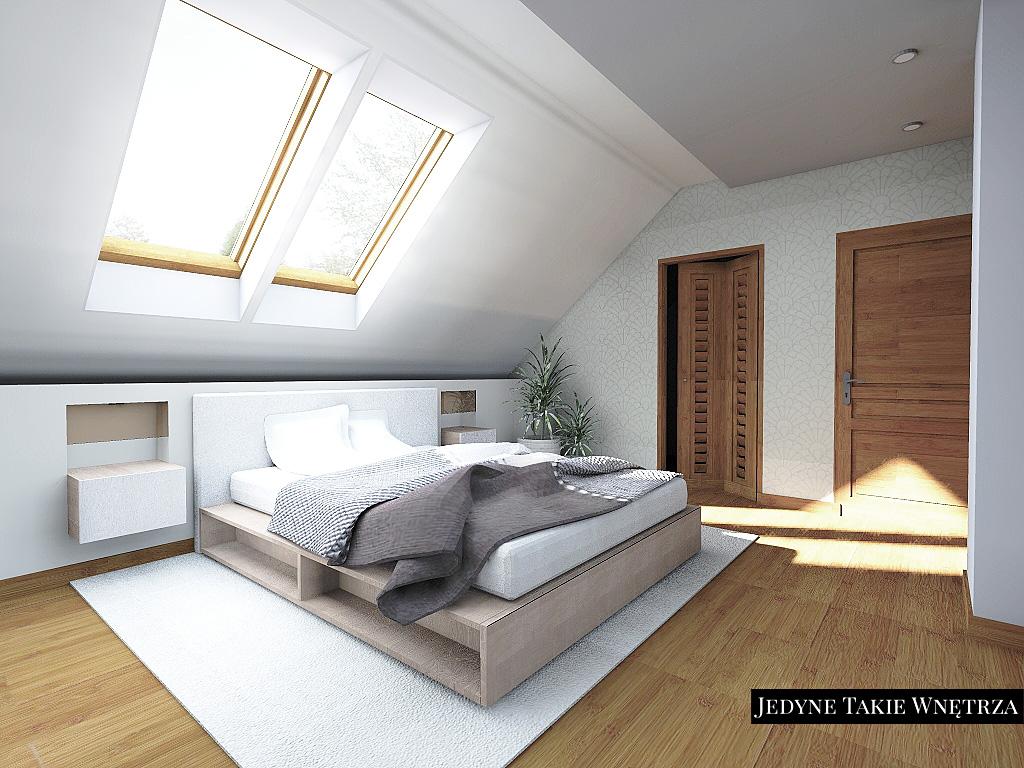 Sypialnia z łazienką - aranżacje  JedyneTakieWnętrza