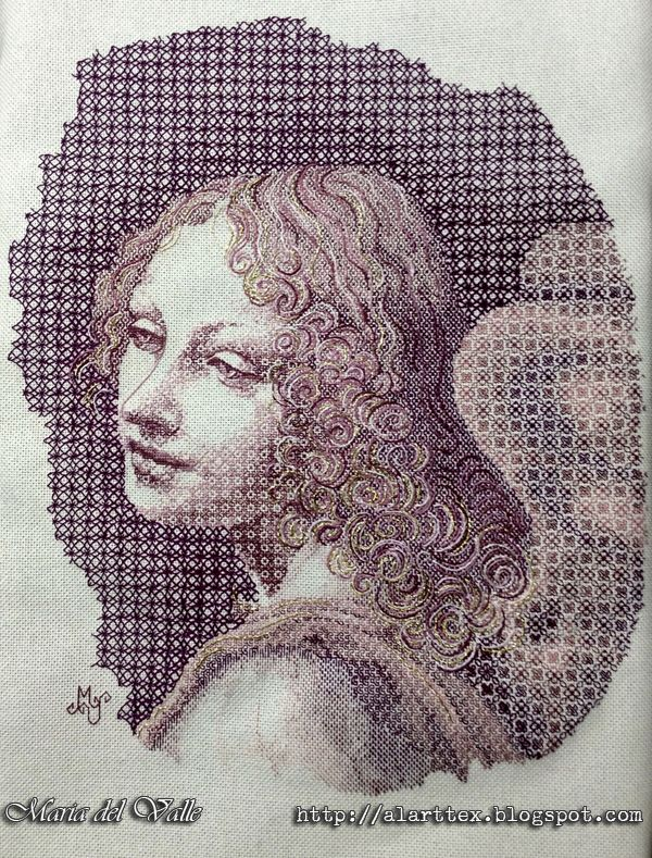 Angel Blackwork - Maria del Valle