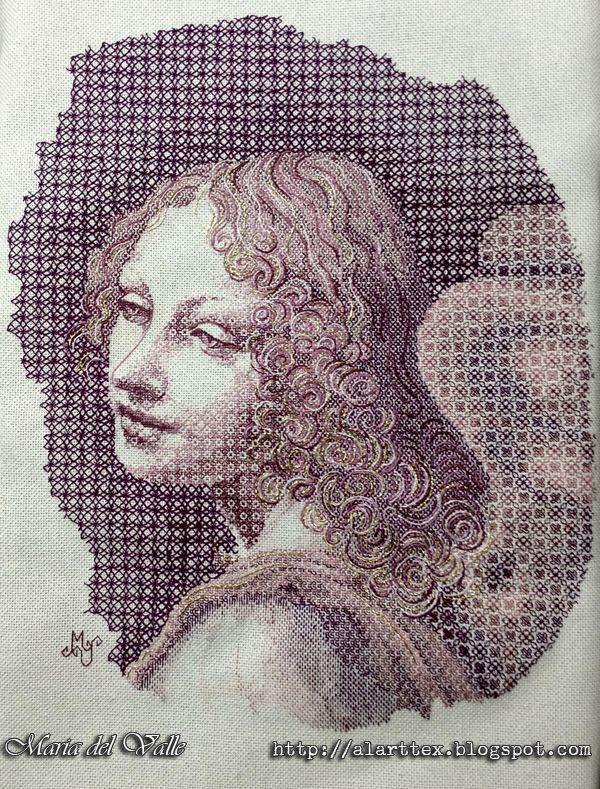 Angel Blackwork - Maria del Valle