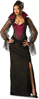 Women's Midnight Vampiress Adult Costume for Halloween