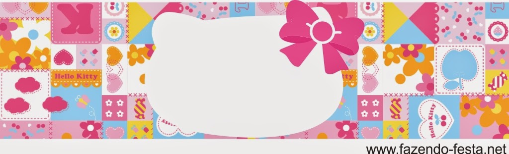 Hello Kitty free printable card, book mark or candy bar label.