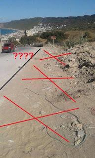 أين الرصيف الخاص بالمترجلين ؟ هذا الجزء من الطريق في إتجاه الحماري خطير جداً على السيارات و العربات خاصةً بمرور شاحنات
