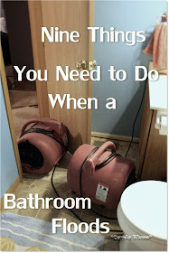 nine things to do when your bathroom floods