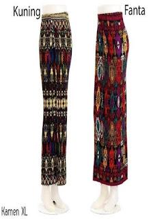 model rok batik panjang untuk remaja