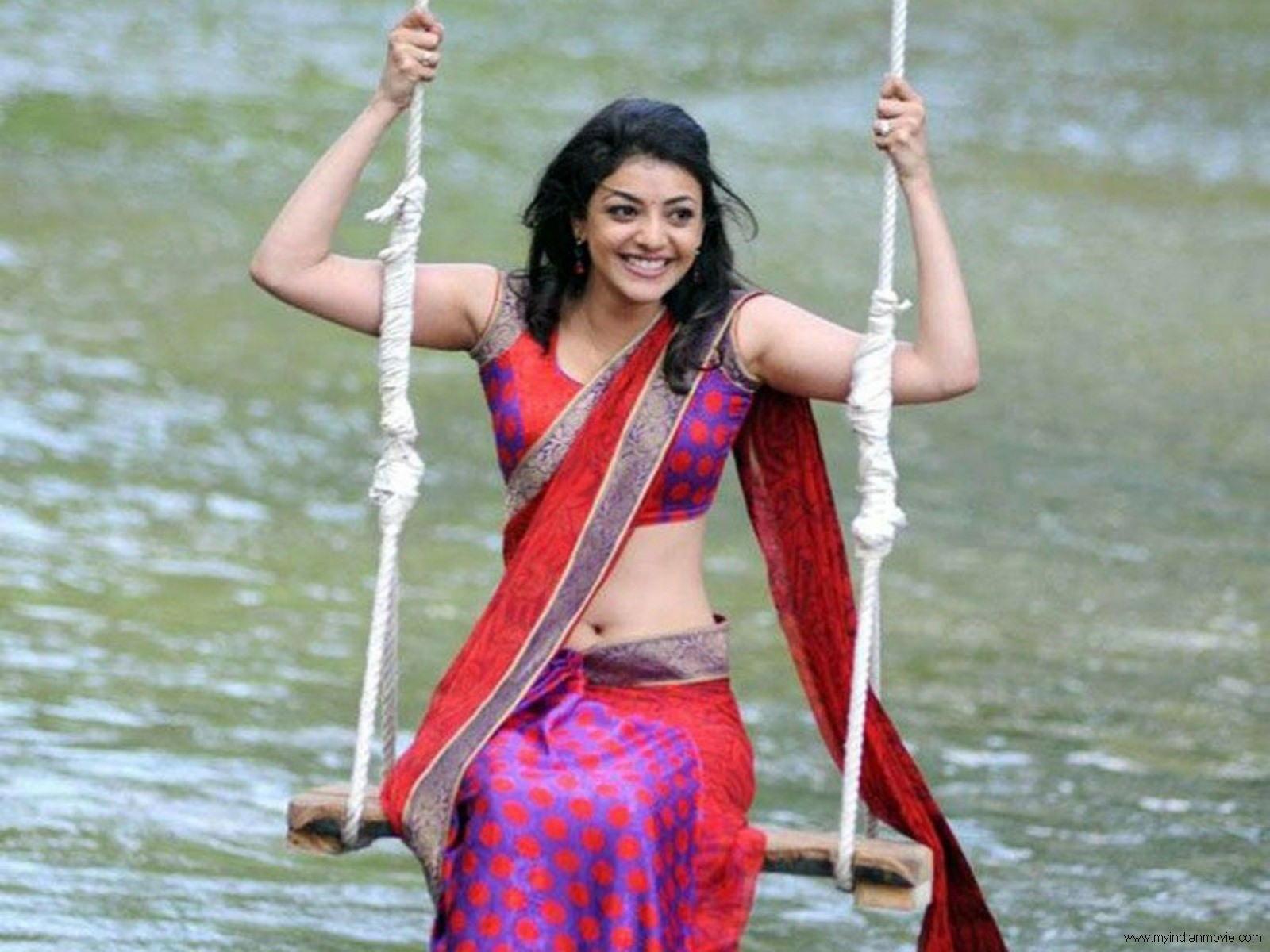 Kajal Aggarwal - A South Indian Actress Hot pics in Saree
