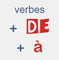 les prépositions et les verbes en français, frammaire FLE