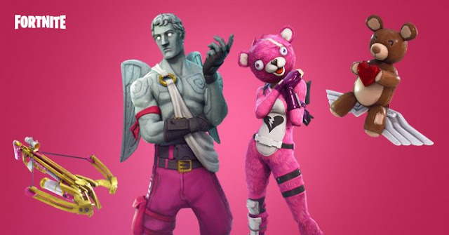 Fortnite nos presenta skins y nueva arma para San Valentín