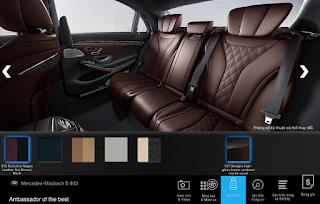 Nội thất Mercedes Maybach S450 4MATIC 2019 màu Nâu Nut / Đen 514