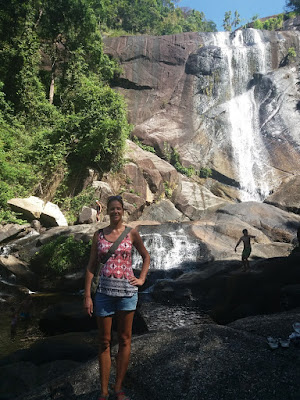 Photo of Ellis at the seven well waterfall on Langkawi Island