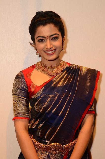 Actress Rashmika Mandanna in Saree HD Photos