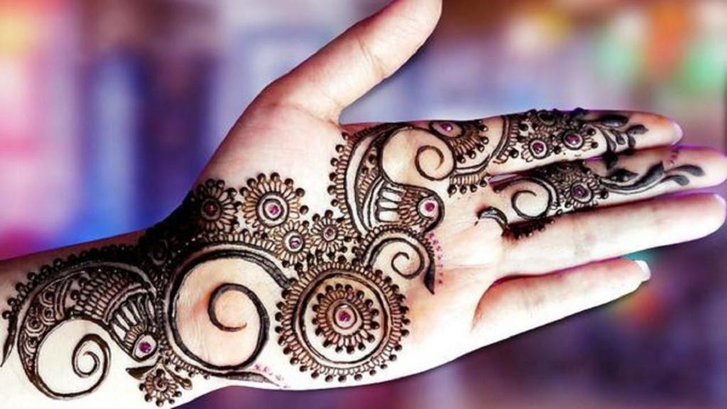 Pakistani Arabic Henna Design for Eid