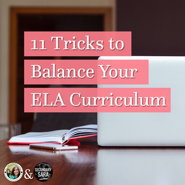 Every teacher, regardless of content area, knows the struggle of teaching all the standards in a school year. However, when it comes to English language arts, your curriculum can become unbalanced with all the different standards. Click through to read 11 tricks to balance your ELA curriculum.