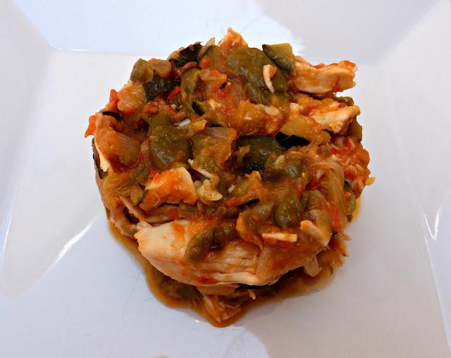 pisto, pollo, receta, casera, verdura