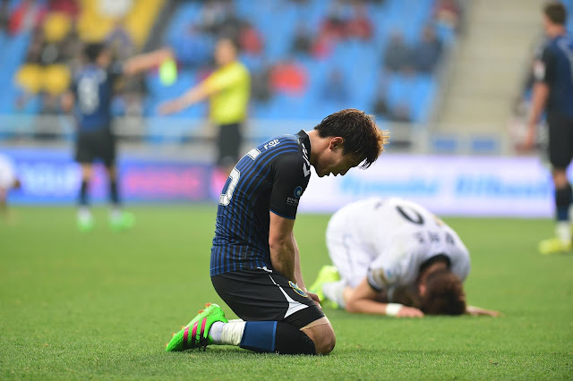Gutted: After initially fighting back from two goals down, Incheon United were still unable to find their first points of the season against a strong Seongnam side. (Photo Credit: Incheon United FC Official Facebook)
