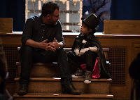 Jacob Tremblay and Colin Trevorrow on the set of The Book of Henry