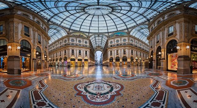 Galeria Vittorio Emanuelle II na Itália